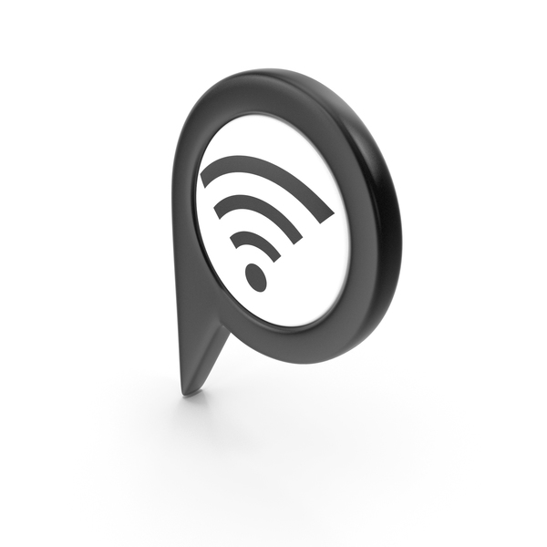 Wi Fi: Location Sign Wifi Black PNG & PSD Images