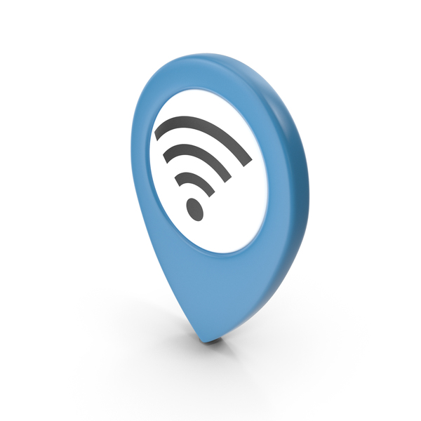 Wi Fi: Location Sign Wifi Blue PNG & PSD Images