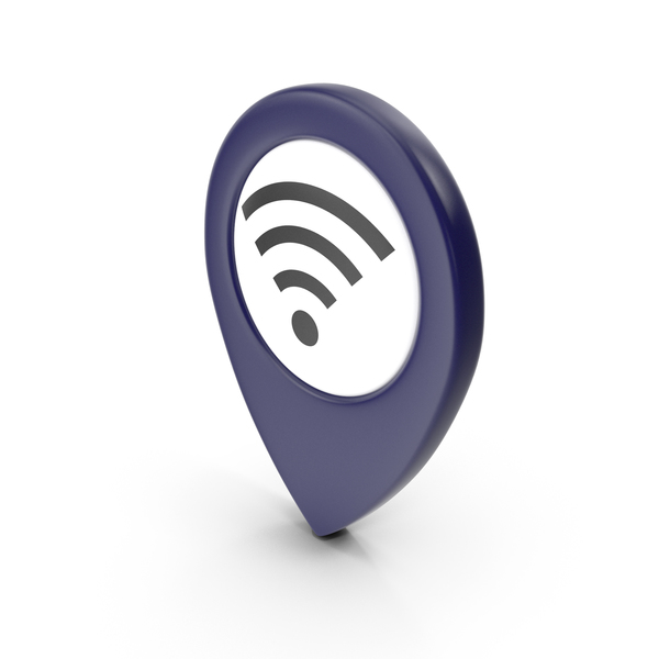 Wi Fi: Location Sign Wifi Dark Blue PNG & PSD Images