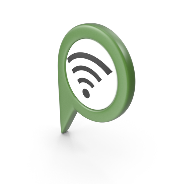 Wi Fi: Location Sign Wifi Green PNG & PSD Images