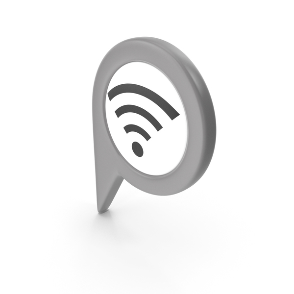 Wi Fi: Location Sign Wifi Grey PNG & PSD Images