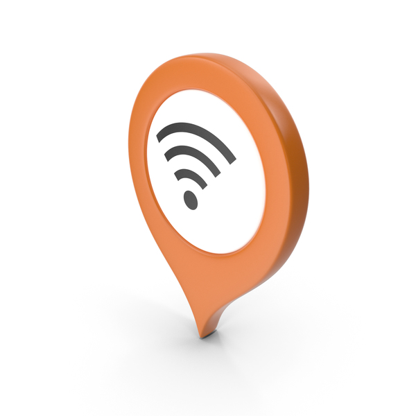 Wi Fi: Location Sign Wifi Orange PNG & PSD Images