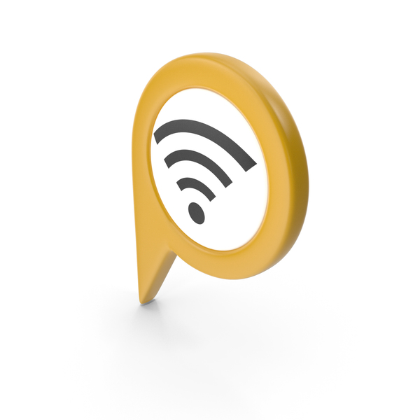 Wi Fi: Location Sign Wifi Yellow PNG & PSD Images