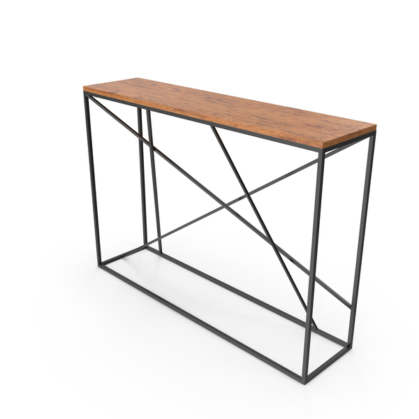 Loft Style Console Table PNG & PSD Images