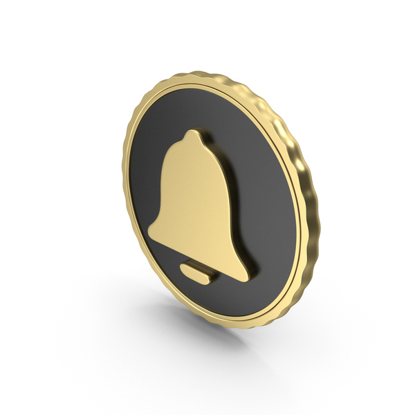 Computer Icon: Logo Clock Alarm Bell Gold PNG & PSD Images