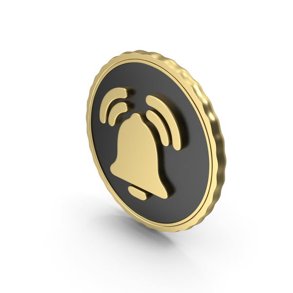 Computer Icon: Logo Clock Alarm Bell Ring Gold PNG & PSD Images