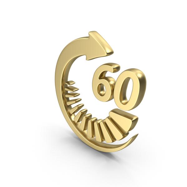 Symbol: Logo Clock Time 60sec Gold PNG & PSD Images
