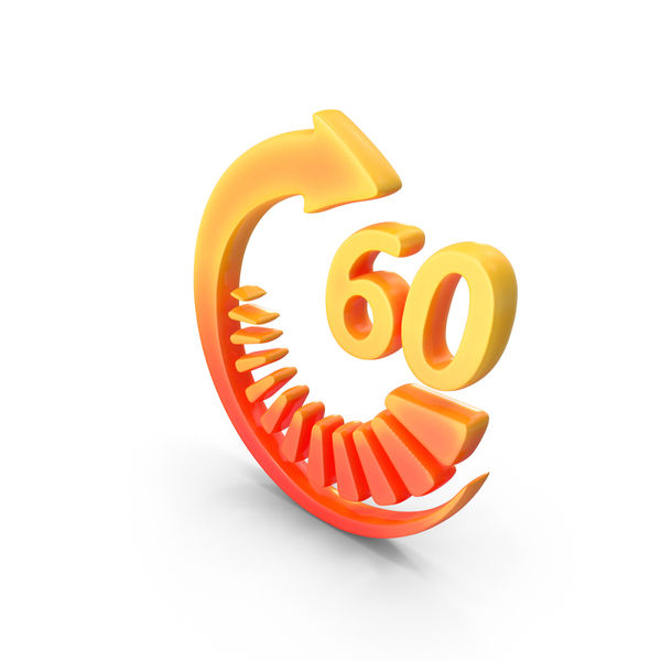Symbol: Logo Clock Time 60sec PNG & PSD Images