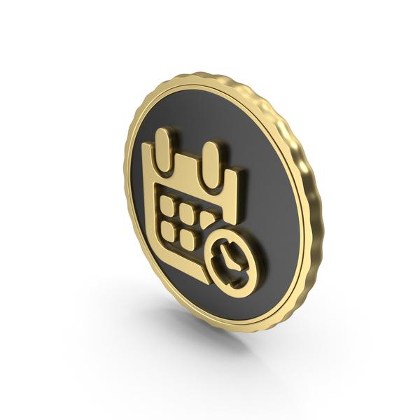 Symbol: Logo Clock Time Calendar Date Gold PNG & PSD Images