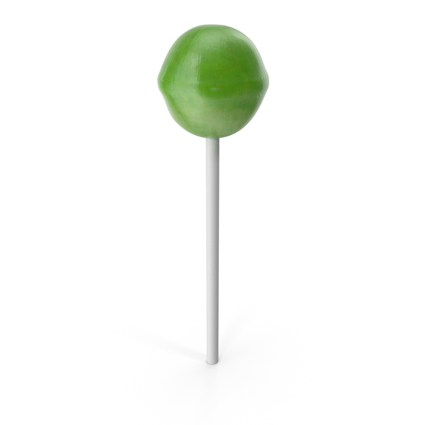 Lollipop Green Licked PNG & PSD Images