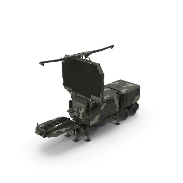 Long Range Radar TOMBSTONE 64N6 Camo Trailer PNG & PSD Images