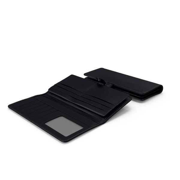 Long Wallet Black Set PNG & PSD Images