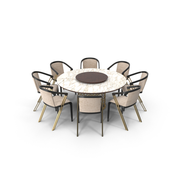Room Set: Longhi Manfred Dining Table & Chairs PNG & PSD Images
