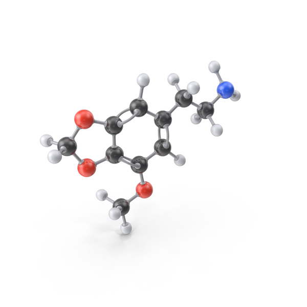 Lophophine Molecule PNG & PSD Images