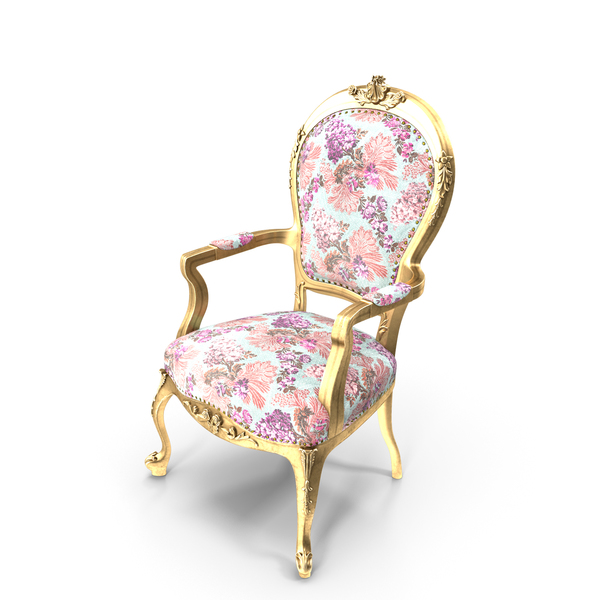 Arm Chair: Louis XV Armchair PNG & PSD Images