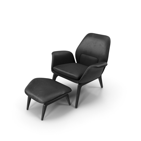 Arm: Lounge Chair Black Worn PNG & PSD Images