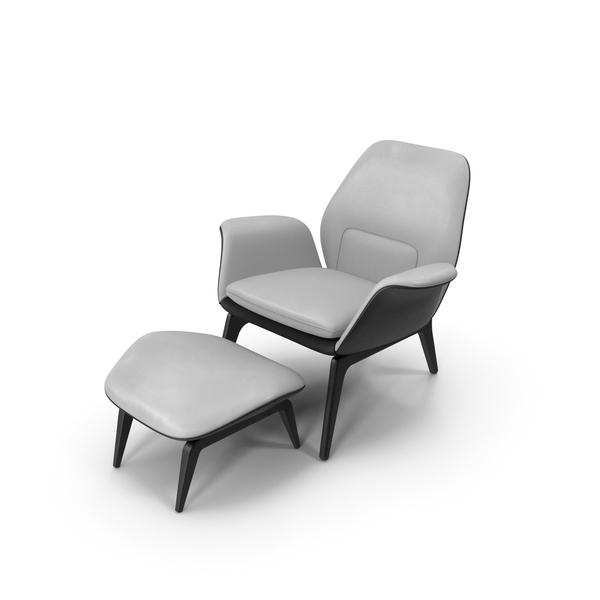 Arm: Lounge Chair BW Leather PNG & PSD Images