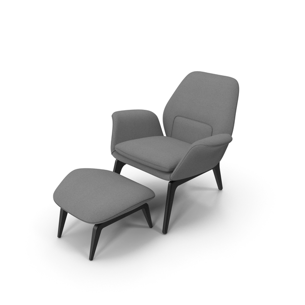 Lounge Chair Gray PNG & PSD Images