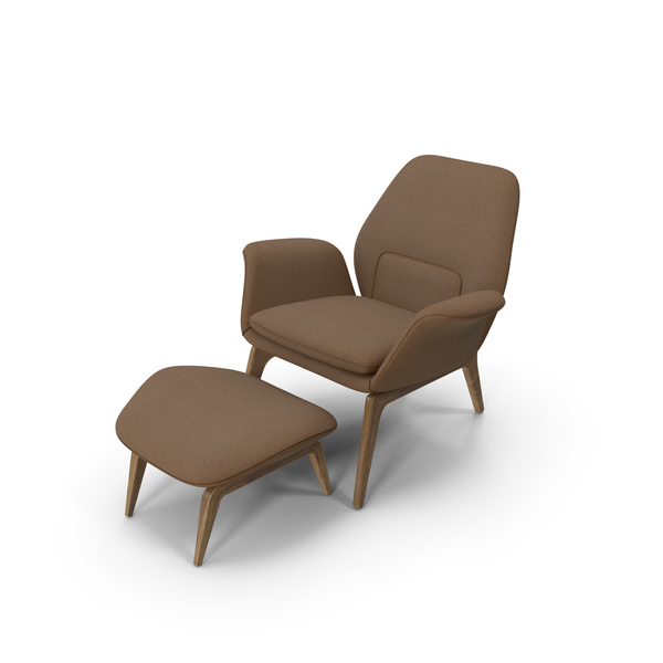 Arm: Lounge Chair Oak Brown PNG & PSD Images