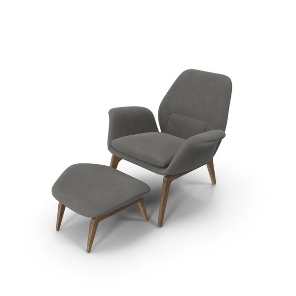 Arm: Lounge Chair Oak Velvet PNG & PSD Images