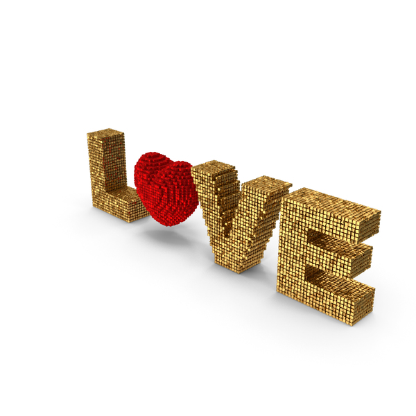 Heart Shaped Candy: Love Voxels PNG & PSD Images