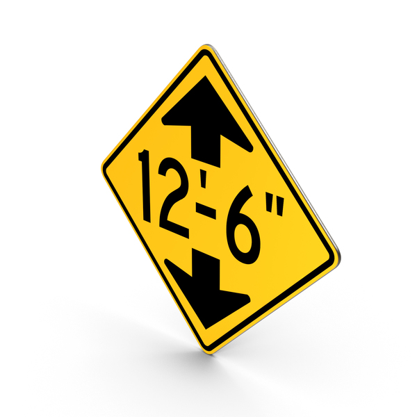 Traffic Signs: Low Clearance Road Sign PNG & PSD Images