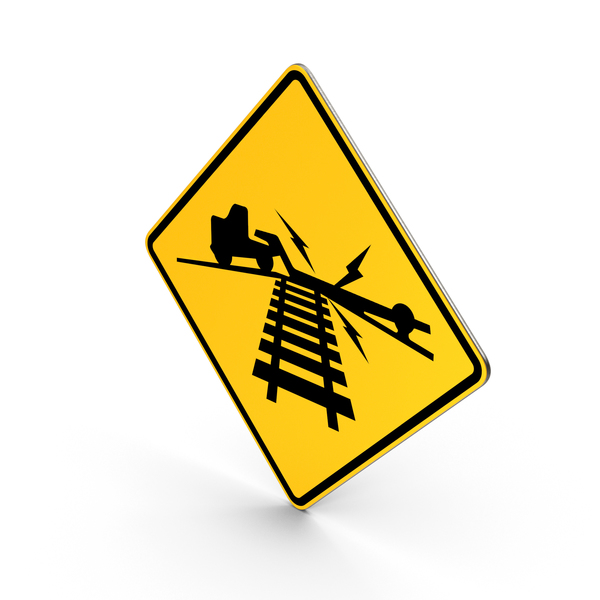 Low Ground Clearance Railroad Crossing Road Sign PNG & PSD Images