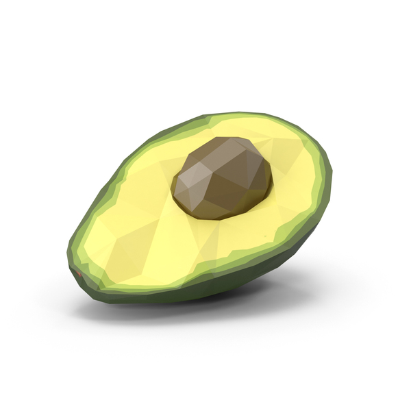 Low Poly Avocado Halved PNG & PSD Images