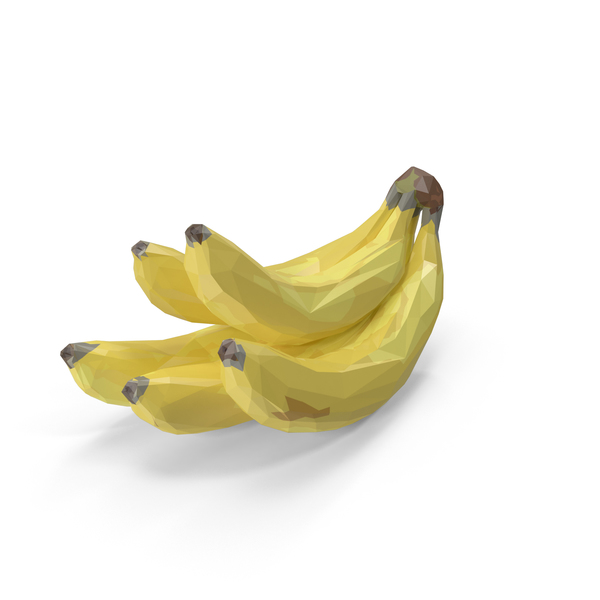 Low Poly Bananas PNG & PSD Images