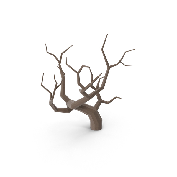 Low Poly Bare Tree Object