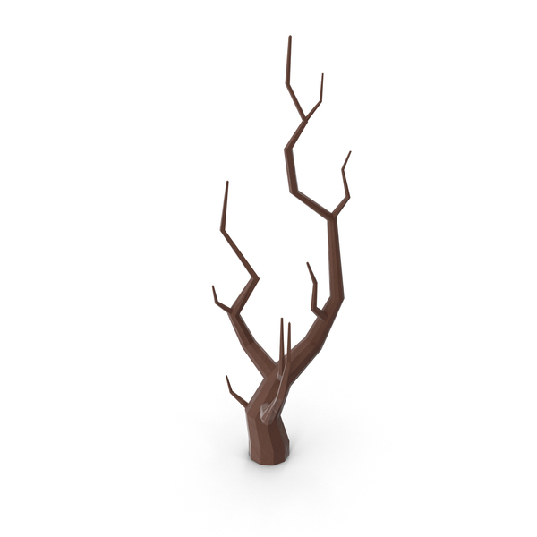 Low Poly Bare Tree PNG & PSD Images