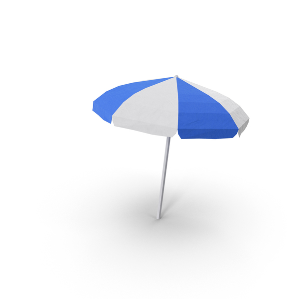 Low Poly Beach Umbrella PNG & PSD Images