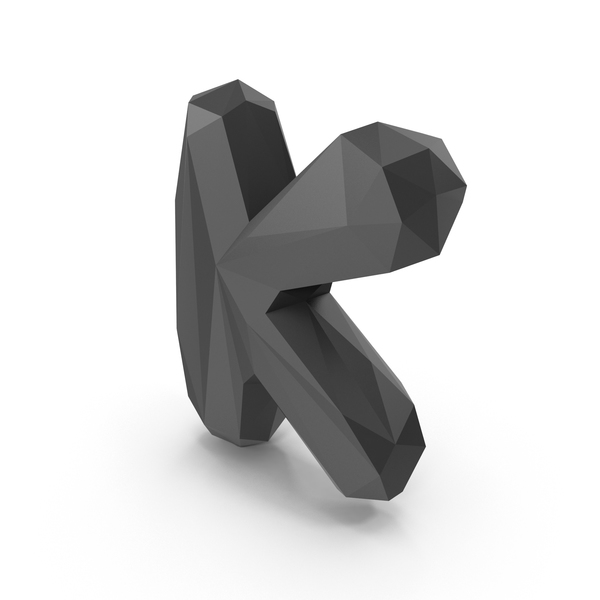 Low Poly Bubble Letter K PNG & PSD Images