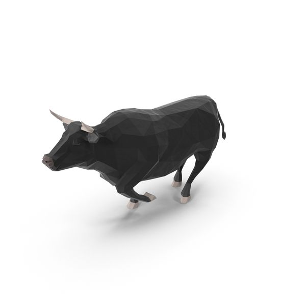 Low Poly Bull Object