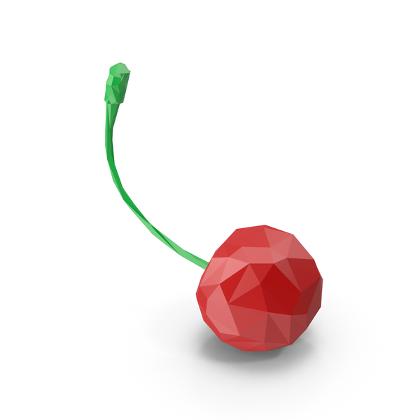 Low Poly Cherry PNG & PSD Images