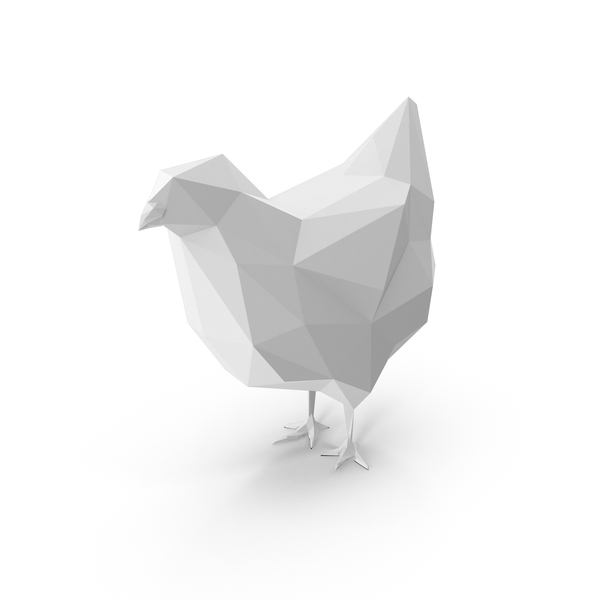 Low Poly Chicken PNG & PSD Images