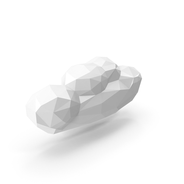 Low Poly Cloud PNG & PSD Images