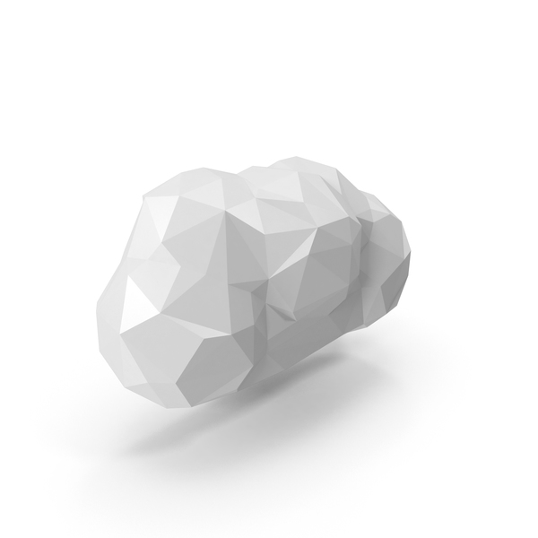 Low Poly Cloud Object