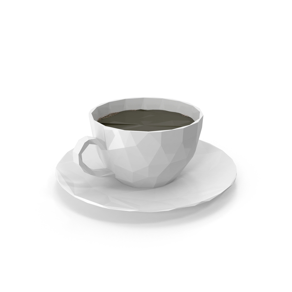 Low Poly Coffee Cup PNG & PSD Images