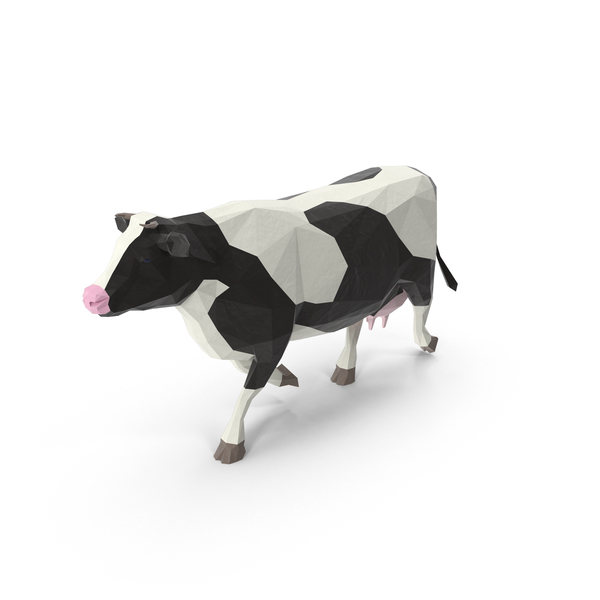 Low Poly Cow Object