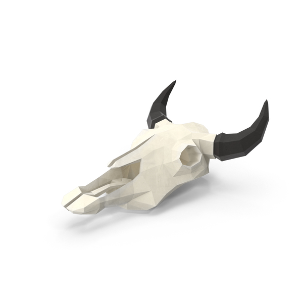 Low Poly Cow Skull PNG & PSD Images