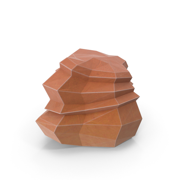 Low Poly Desert Rock PNG & PSD Images