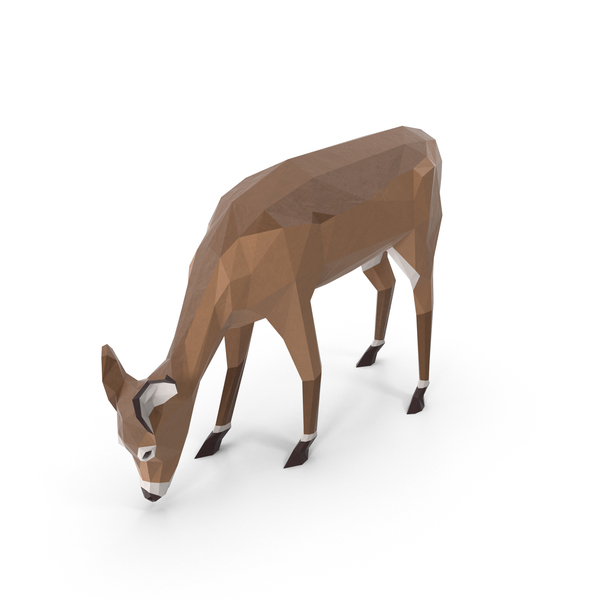 Low Poly Doe Object