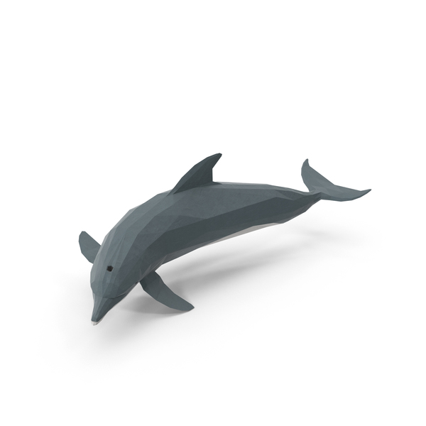 Low Poly Dolphin Object