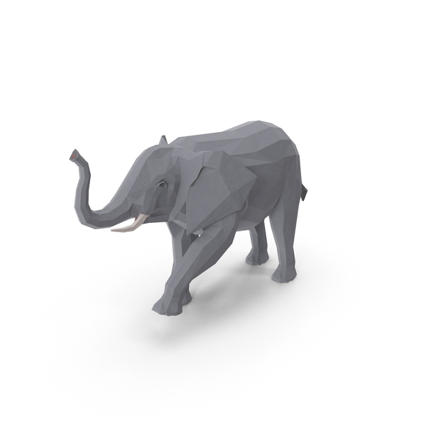 Low Poly Elephant PNG & PSD Images