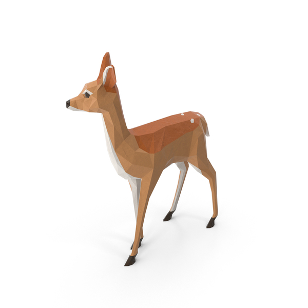 Low Poly Fawn Object