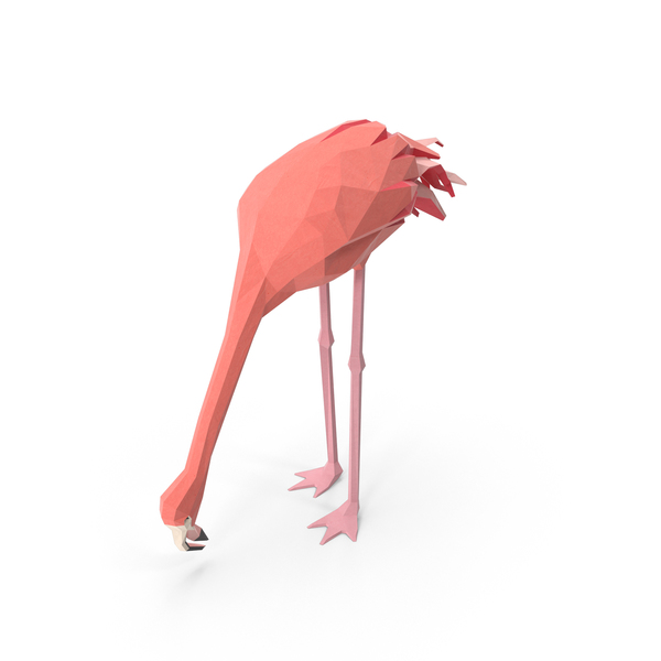 Low Poly Flamingo Object
