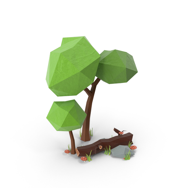 Low Poly Forest PNG & PSD Images