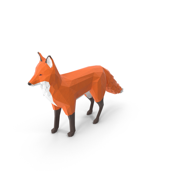 Low Poly Fox Object