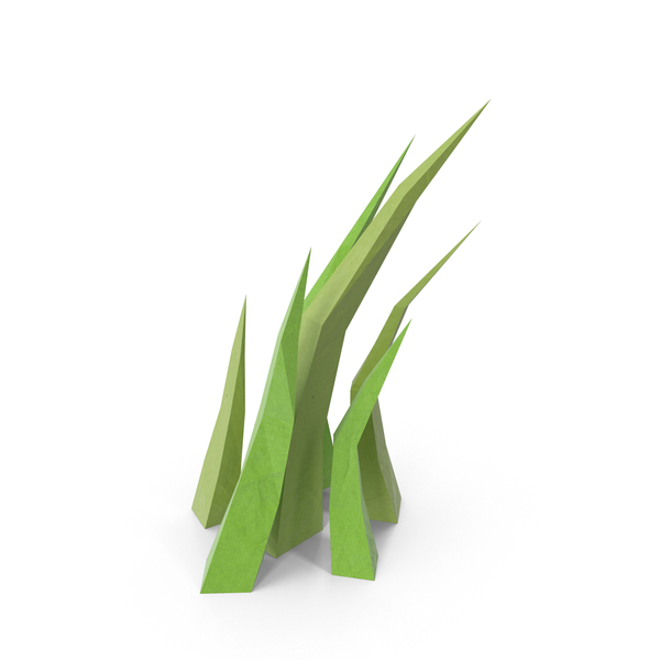 Low Poly Grass PNG & PSD Images